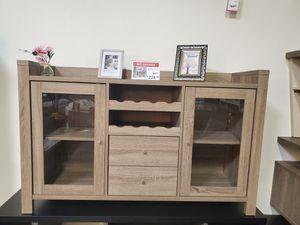 Melissa wine Cabinet, Dark Taupe for Sale in Huntington Beach, CA