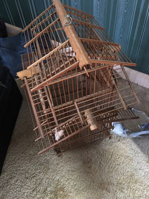 Decorative wooden bird cage for Sale in Pittsburgh, PA