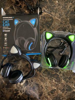 Soundlogic XT Color Changing Cat Ears Wireless Bluetooth Headphones for Sale in Phoenix, AZ