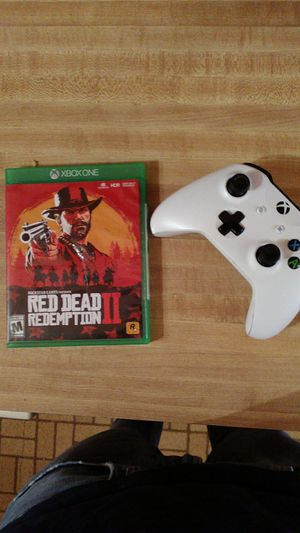 Xbox one controller + Red Dead Redemption 2 for Sale in Bowie, MD