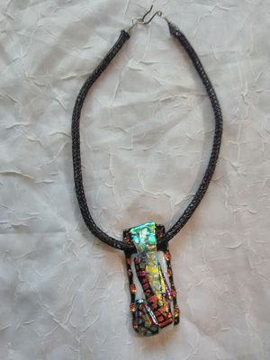 Kiln fused and layered Dichroic Glass Necklace for Sale for sale  Baltimore, MD