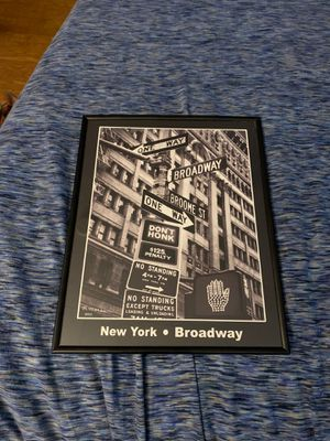 New York Broadway Framed Photo for Sale in Morgantown, WV