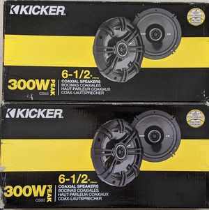 """Kicker CS65 300W 6.5"""" Coaxial Speakers (2 pairs /4 speakers) for Sale in Walpole, MA"""