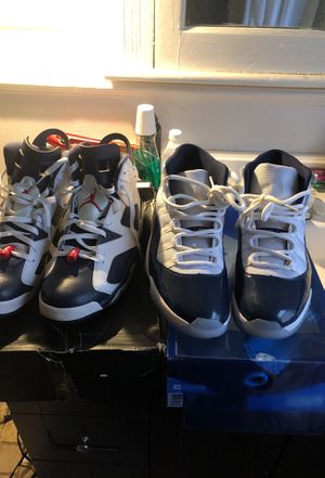 Jordan 11 win like 82 VND size12only wore once and Jordan 6 Olympics size 13 8/10 condition for Sale in Detroit, MI