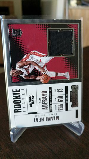 Heat Bam Adebayo jersey card for Sale in Paramount, CA