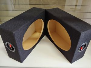 Speaker box : 6×9 mini square box (USA MDF) wood brand new pair w11- h8- d3.5 for Sale in Bell Gardens, CA