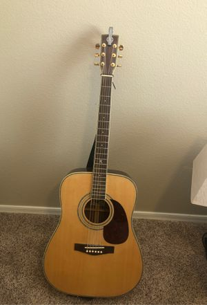 Revival guitar, capo, and case. Casio keyboard and pedal. for Sale in Sun City, AZ