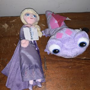 "ELSA & BRUNI FIRE SPIRIT Disney Frozen II Movie 9"" PLUSH SALAMANDER NEW for Sale in Miami, FL"