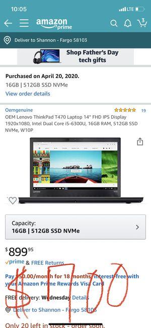 Lenovo Thinkpad Laptop for Sale in Fargo, ND