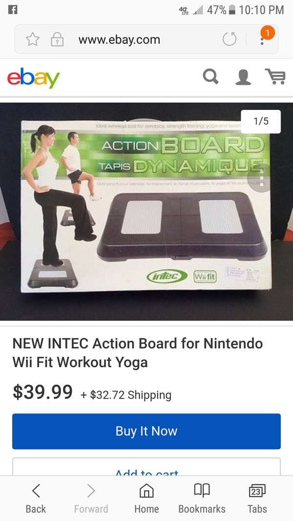 New wii fit action board