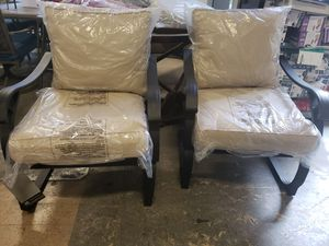 New 2pc outdoor patio furniture set springback chairs tax included for Sale in Hayward, CA