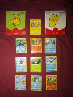 Pokemon 25th Anniversary McDonald's Exclusive Promo Cards for Sale in Los Angeles,  CA