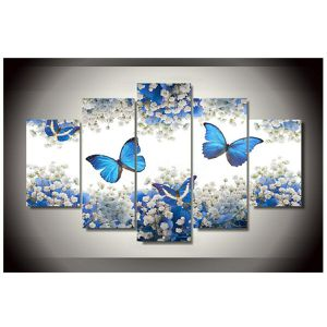 NEW Wall Art Blue Butterfly Canvas Painting for Home decoration bedroom living room Hallway office for Sale in Las Vegas, NV