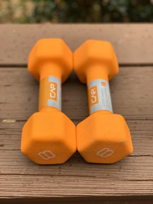 Two 8 lbs CAP Neoprene Dumbbells BRAND NEW compare with Bowflex for Sale in Alexandria, VA
