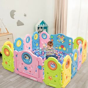 14 Panel Kids Activity Center Baby Playpen with Gate for Sale in Walnut, CA
