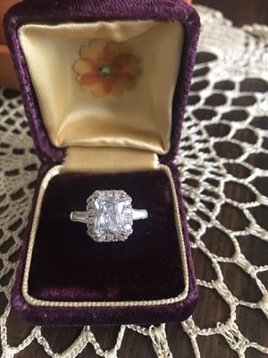 Sterling Silver Cubic Zirconia Engagement Modern Ring Size 6 & 7 for Sale in Dallas, TX