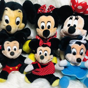 Vintage Disney Disneyana Mickey And Minnie Mouse Plush Toy Lot for Sale in Largo, FL