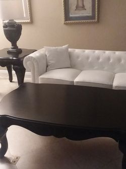Solid Wood Like Brand New Black Large Coffe Table And Side Table Set For $ 375 for Sale in San Dimas,  CA
