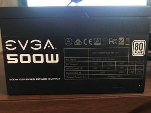 Evga 500 watt power supply for Sale in Clearwater, FL