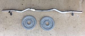 Curl bar and weights plates for Sale in Richardson, TX