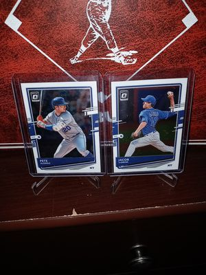 2020 Panini Donruss Optic Baseball! 2 Hot Mets Cards! Alonso & Degrom! for Sale in City of Industry, CA
