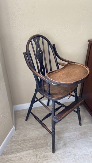 Antique wooden high chair for Sale in Clearwater, FL