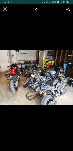 Parting out motorcycle parts part out mostly sports bikes like r1 r6 gsxr cbr 600 rr cbr 1000 rr fz6 fz7 fz9 fz8 f4i r3 sv650 fz07 fz06 for Sale in Bloomington, CA