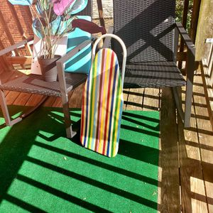 Free patio rocker set , artificial plant, and small ironing board for Sale in Arlington, VA