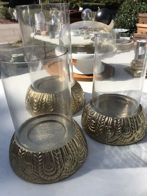 Opalhouse gold candle lanterns for Sale in Attleboro, MA