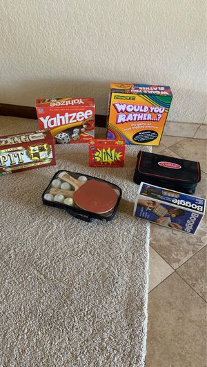 Classic board and dice games plus Ping Pong set – $20 for all for Sale in Scottsdale, AZ