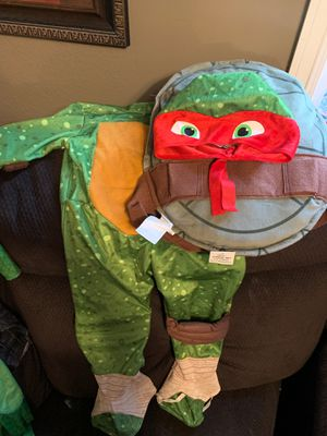Ninja turtle (Raphael) costume for toddler for Sale in Riverside, CA