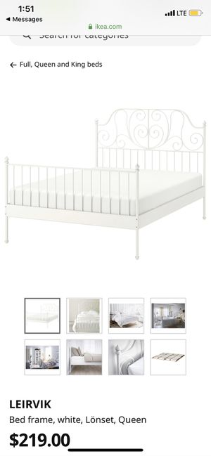 Queen Size Bed Frame ikea for Sale in Riverside, CA