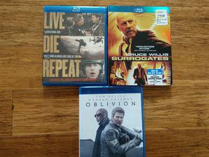 Excellent - Blu Ray disc movies Edge of Tomorrow, Oblivion, Surrogates for Sale in Sumner, WA
