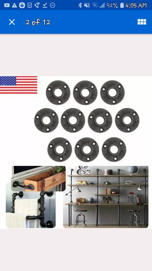 1010Pcs 3/4'' Black Malleable Threaded Floor Flange Iron Pipe Fittings Wall Mount for Sale in Buffalo, NY