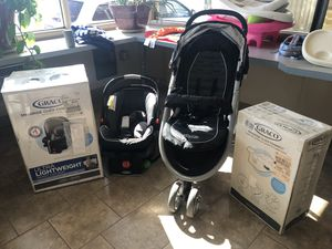 Graco Snugride Click Connect Stroller, 2 Car Seats, 3 Bases for Sale in Odessa, TX