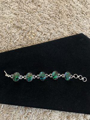 Black green opal silver bracelet 30$ very firm 925 for Sale in Sacramento, CA
