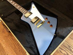 Pelham Blue Explorer style Guitar NEW w tweed hard case for Sale in Berwyn, IL