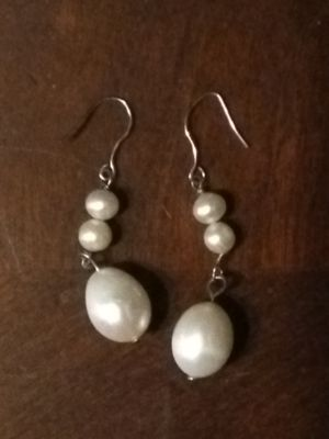 Pearl ring with diamonds and pearl earrings for Sale in Athens, GA