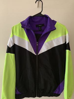 Forever 21 retro rain jacket for Sale in St. Louis, MO