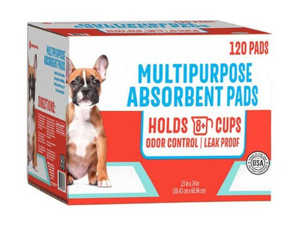 """Ultra Absorbent Pet Training Pads, 23"""" x 24"""" - Pack of 120"""