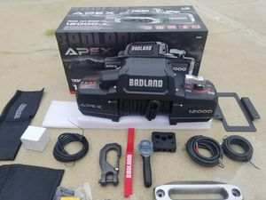 12000 Lb Winch Brand NEW for carTrailer or Truck or Jeep 4x4 for Sale in Bakersfield, CA