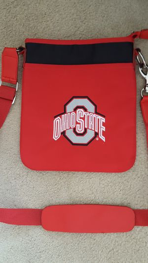 OSU Ohio State Nylon Embroidered Cross Body Purse/Bag. Adjustable strap with heavy duty latch. Inside zipper pocket as well as 2 smaller pockets. for Sale in Hilliard, OH