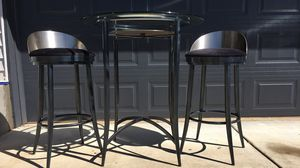 Contemporary glass + metal pub table for Sale in Oregon City, OR