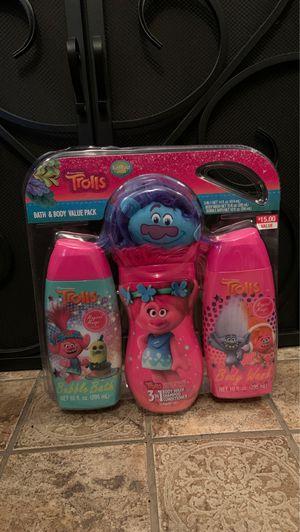 Trolls bath and body value pack for Sale in Burlington, NJ