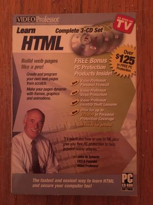 Learn HTML Complete 3CD Set for Sale in Lackawanna, NY