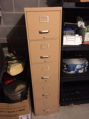Heavy duty steel 5 drawer filing cabinet for Sale in Chicago, IL