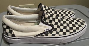 Vans Classic Slip-On - Black/White Checkerboard Canvas -Mens Size 13 for Sale in Oak Forest, IL
