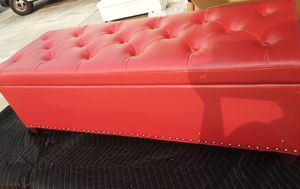 Red storage ottoman for Sale in Bakersfield, CA