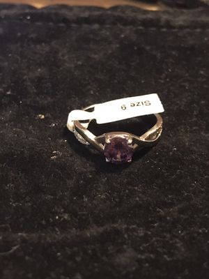 BRAND NEW 6MM ROUND PURPLE CZ LADIES RING SIZE 9 for Sale in Seaford, DE