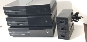 Lot 3 of Microsoft XBOX ONE 500GB Black Gaming Console No controller AS-IS for parts or repair for Sale in Kent, WA